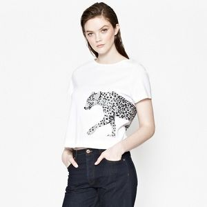 ✨FRENCH CONNECTION✨Leopard Sequin T-Shirt